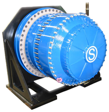 Integrated winch gears
